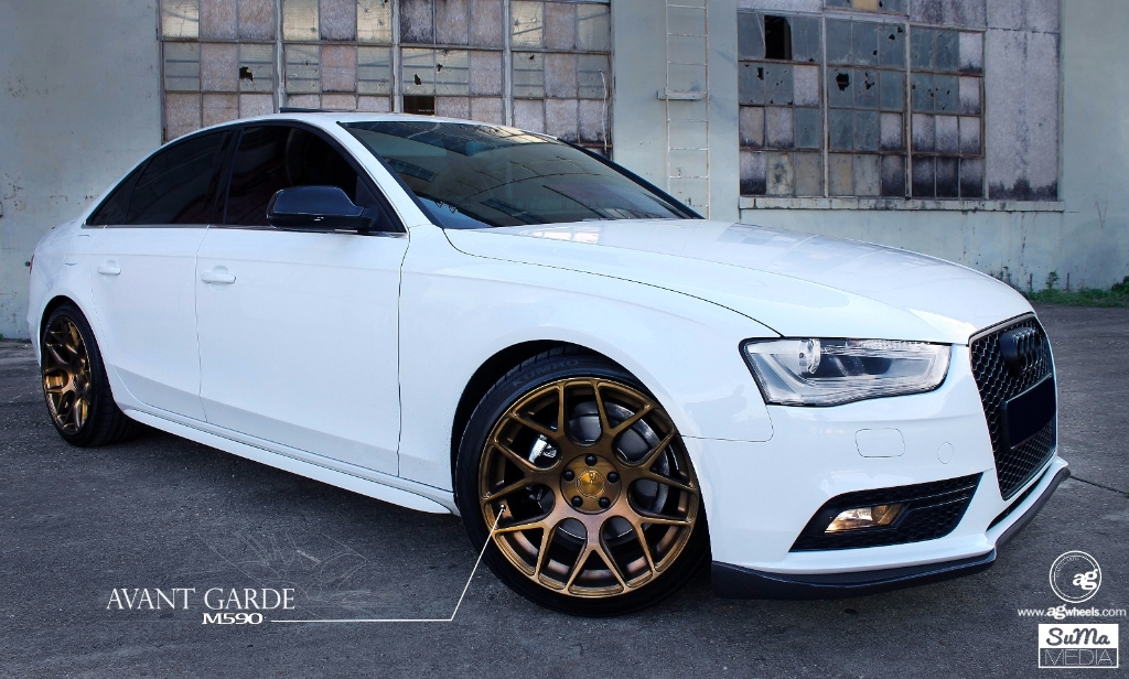 Audi B8 A4 M590 Matte Brushed Antique Bronze Wheels 1