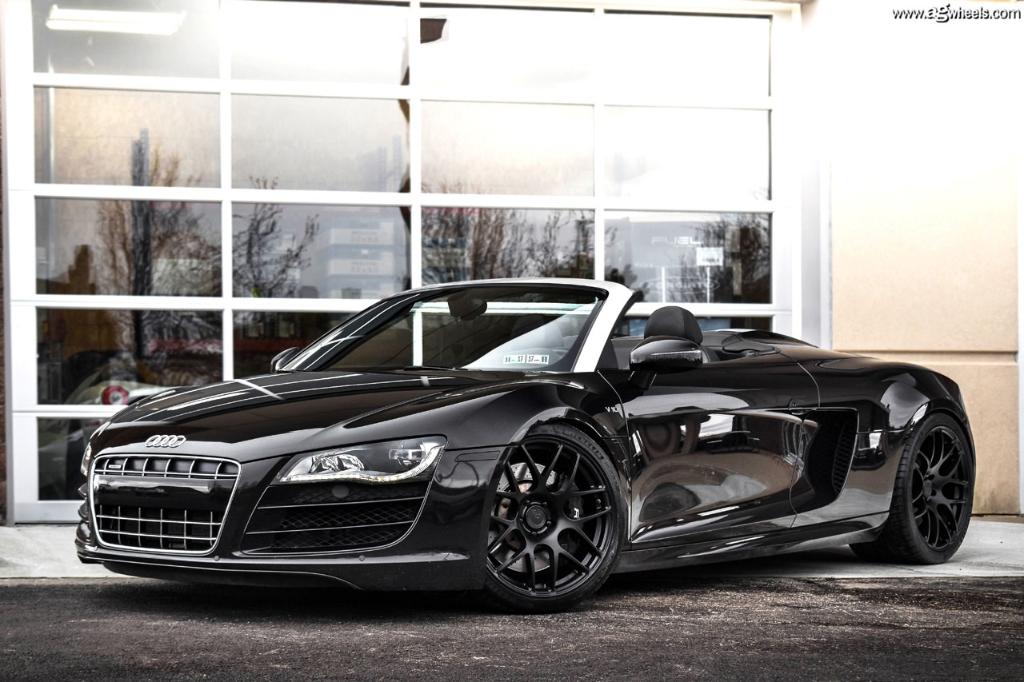 Audi R8 V10 Spyder Agwheels Ag M610 Matte Black 1