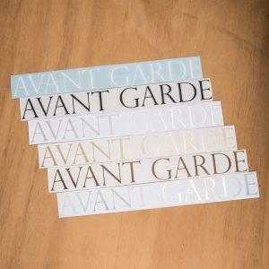 Avant Garde Logo Vinyl Decals