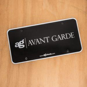 Avant Garde License Plate Plastic Insert