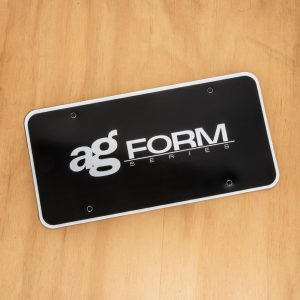 Avant Garde Form License Plate Plastic Insert