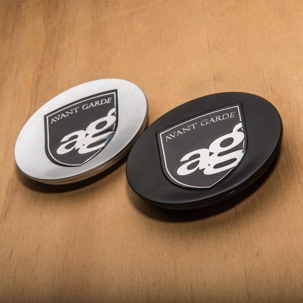 centercap replacement avant garde wheels ag ruger mesh porsche logo profile black machined gloss