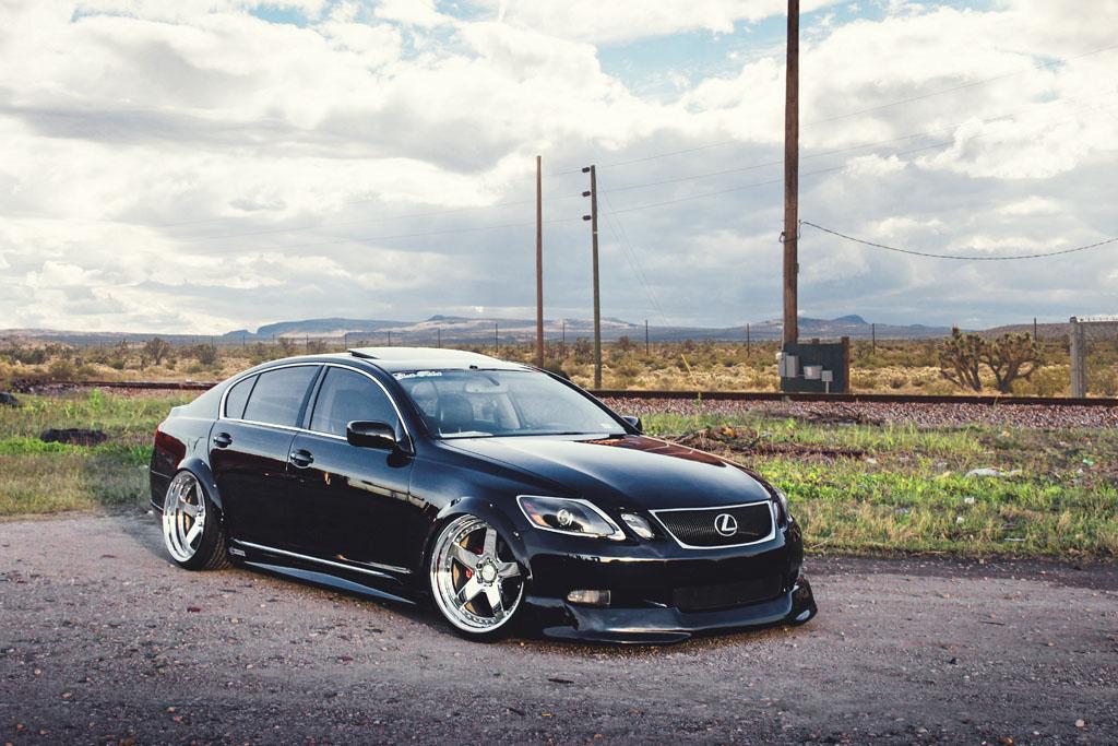 Lexus gs300 f530 spec1 avant garde avant garde wheels air suspension bagged black lexus gs300 gs sedan f530 chrome five spoke wheels step lip rims sciox Images