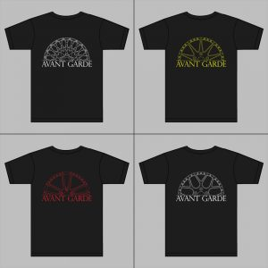 Avant Garde Black Tee: Custom Wheel
