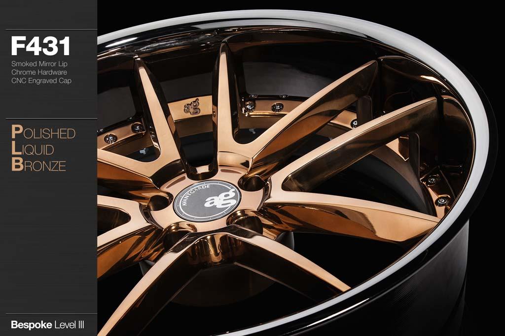 Copper Rim Paint >> F431 - Polished Liquid Bronze w/ Smoked Mirror Lip | Avant Garde Wheels - Avant Garde Wheels