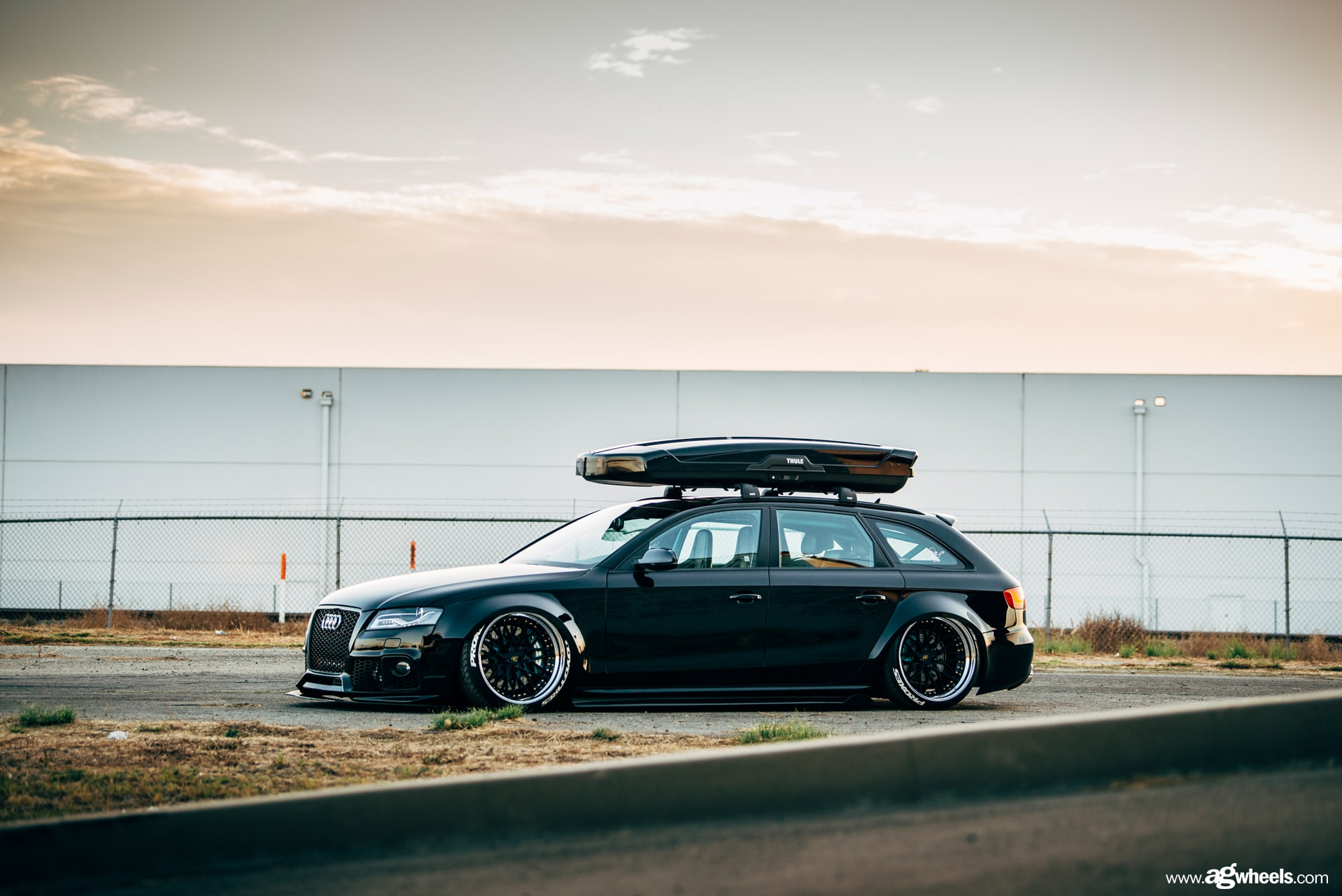 audi a4 avant wagon ag wheels agwheels avantgardewheels avant garde wheel rim rims tire tires stance stancenation widebody iacrophobia thule toyo tires toyotires proxes sr10 abyss blue face chrome lip gold hardware concave three piece 3piece