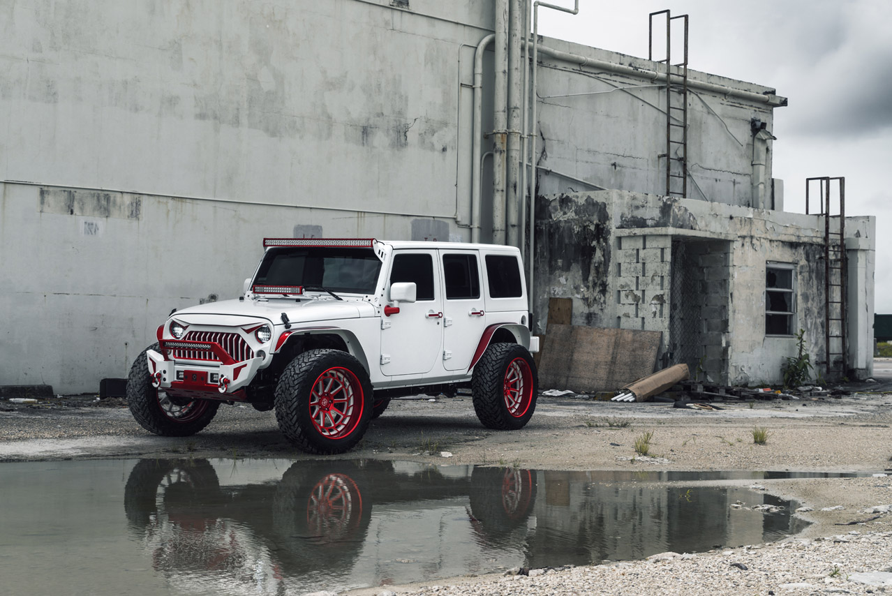 Jeep Wrangler Rims And Tire Packages >> Ksm Offroad Wheels Jeep Wrangler Ksm05 Red White Two