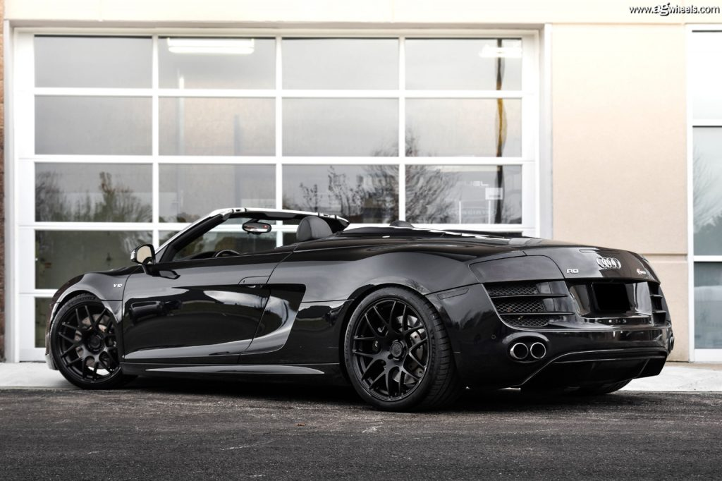Audi R8 V10 Spyder Ag M610 Matte Black Avant Garde Wheels