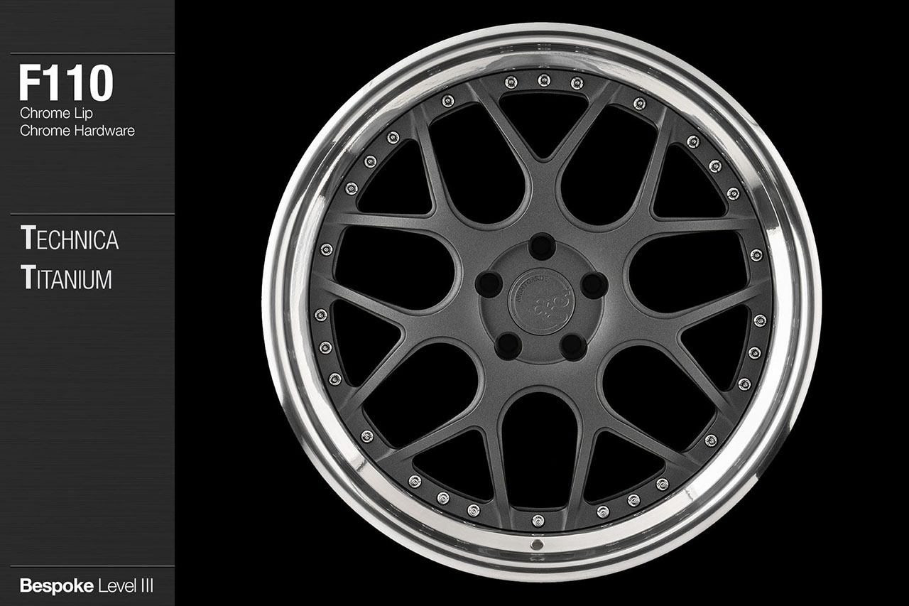 agwheels ag wheel wheels avant garde f110 technica titanium chrome lip hardware forged wheels forge 3piece 3 piece 19inch 20inch
