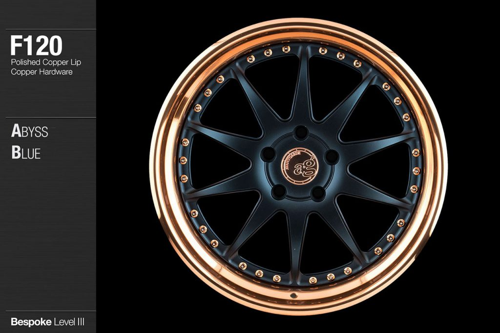 avant-garde-ag-wheels-f120-abyss-blue-face-polished-copper-lip-hardware-1-min