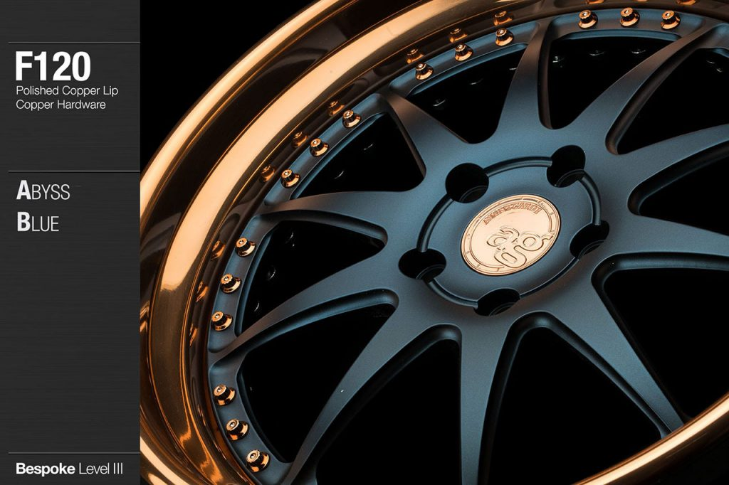 avant-garde-ag-wheels-f120-abyss-blue-face-polished-copper-lip-hardware-2-min
