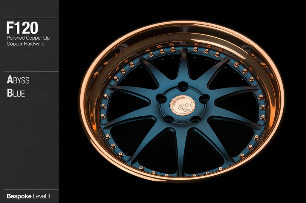 avant-garde-ag-wheels-f120-abyss-blue-face-polished-copper-lip-hardware-3-min