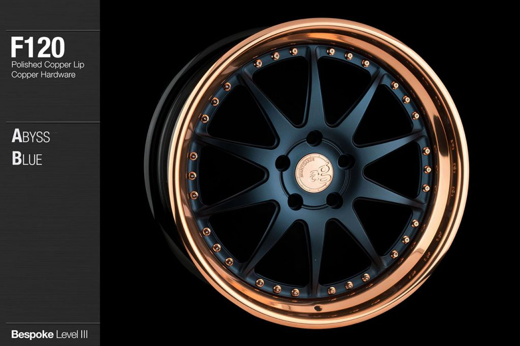 avant-garde-ag-wheels-f120-abyss-blue-face-polished-copper-lip-hardware-4-min