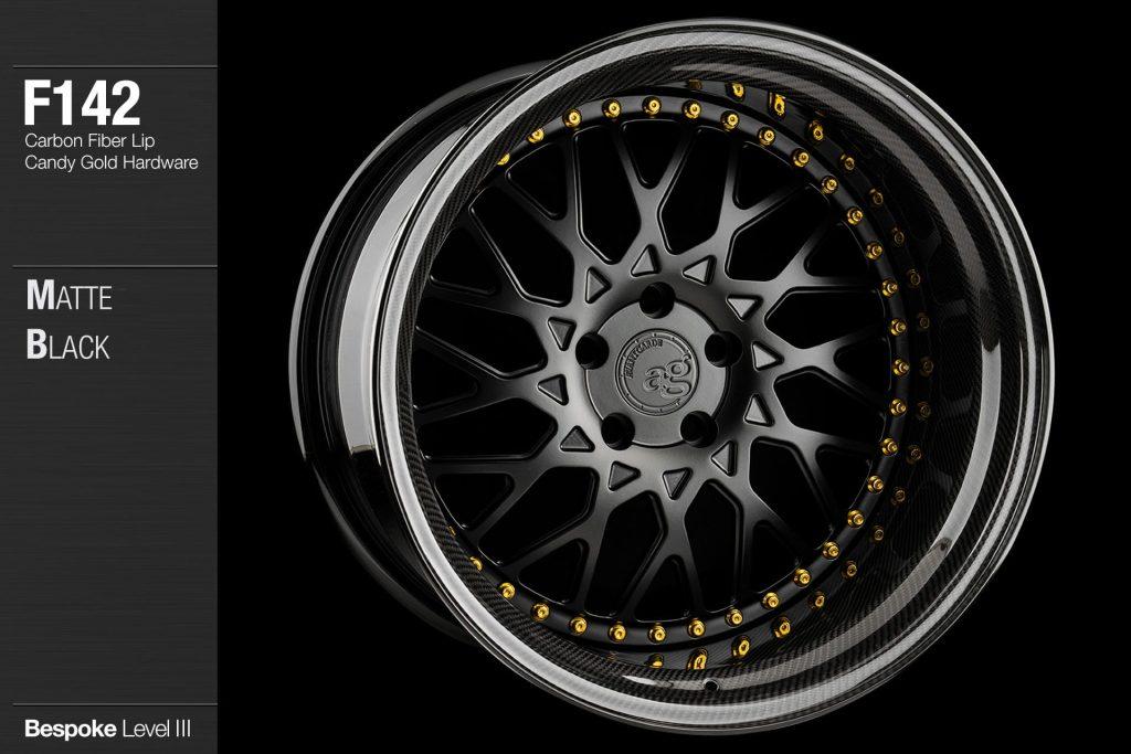 avant-garde-ag-wheels-f142-matte-black-face-carbon-fiber-lip-candy-gold-hardware-4-min