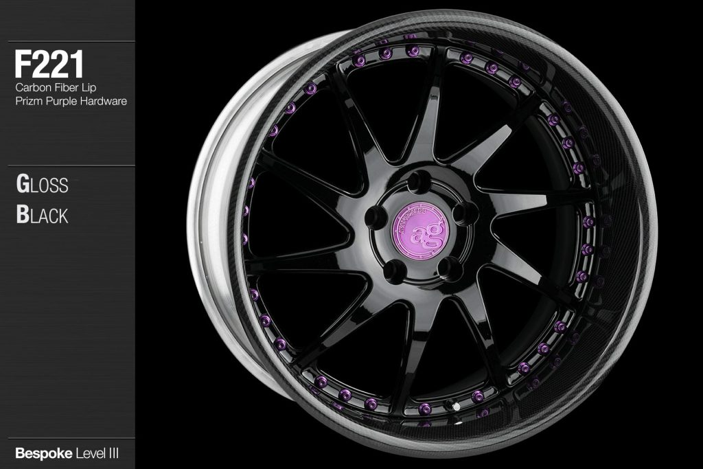 avant-garde-ag-wheels-f221-gloss-black-face-carbon-fiber-lip-prizm-purple-hardware-4-min