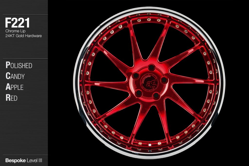 avant-garde-ag-wheels-f221-polished-candy-apple-red-face-chrome-lip-24kt-gold-hardware-1-min