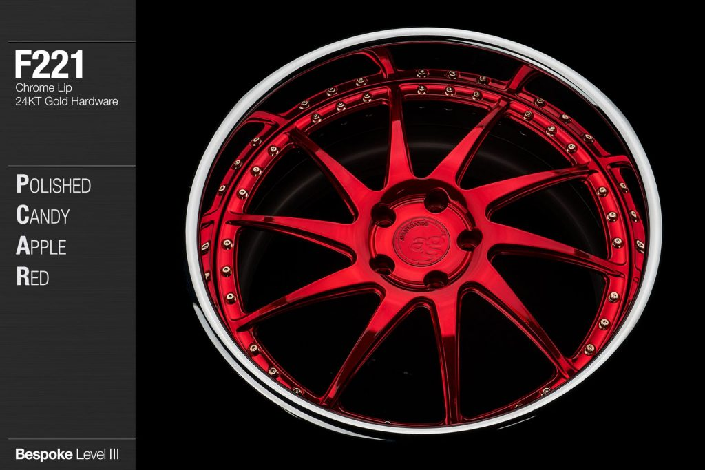 avant-garde-ag-wheels-f221-polished-candy-apple-red-face-chrome-lip-24kt-gold-hardware-3-min