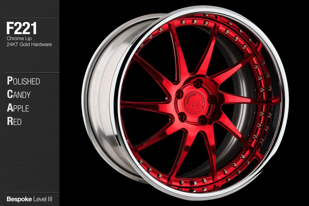 avant-garde-ag-wheels-f221-polished-candy-apple-red-face-chrome-lip-24kt-gold-hardware-4-min