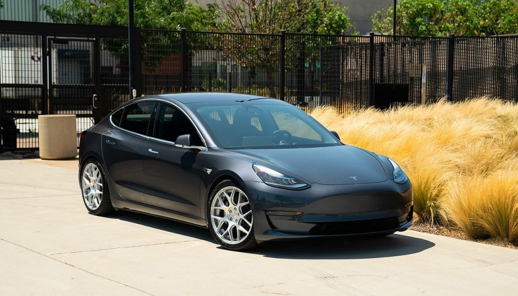 tesla model 3 lowered avant garde wheels m590 cast concave custom teslamotors agwheels rims