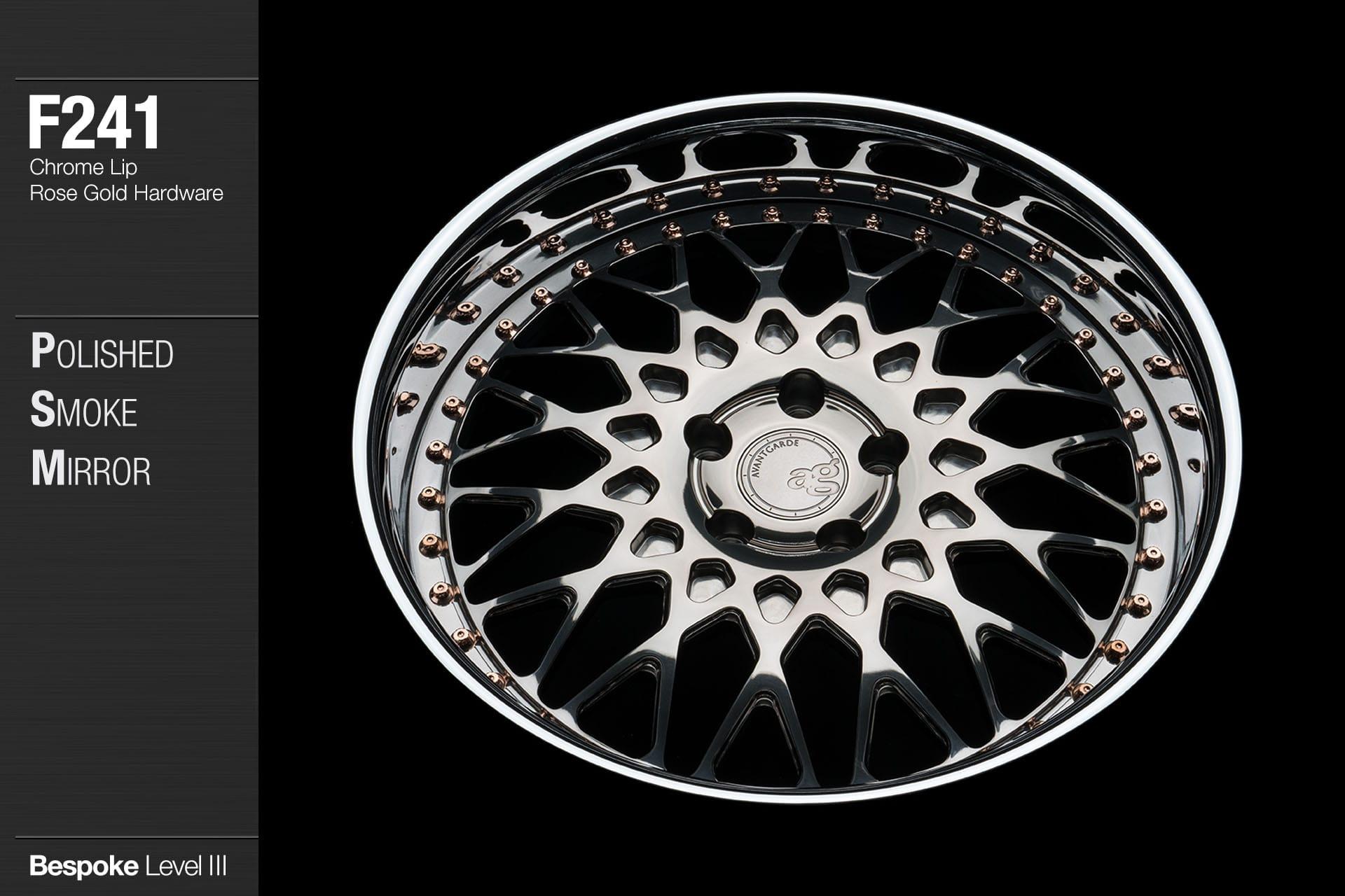 avant-garde-ag-wheels-f241-polished-smoke-mirror-face-chrome-lip-rose-gold-hardware-3-min