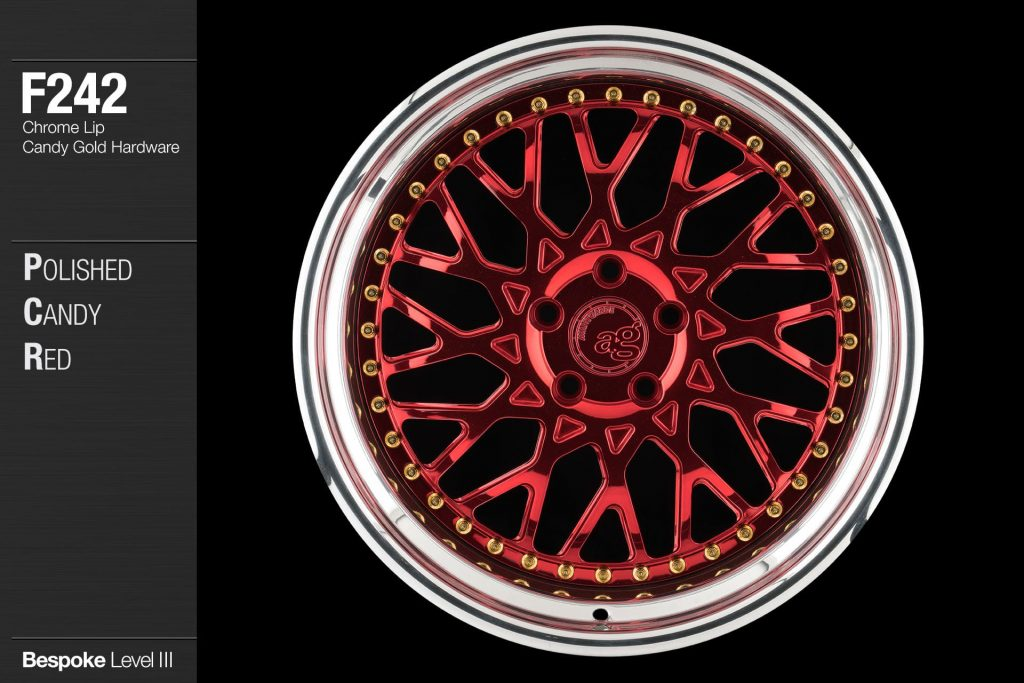 avant-garde-ag-wheels-f242-polished-candy-apple-red-chrome-lip-candy-gold-hardware-1-min
