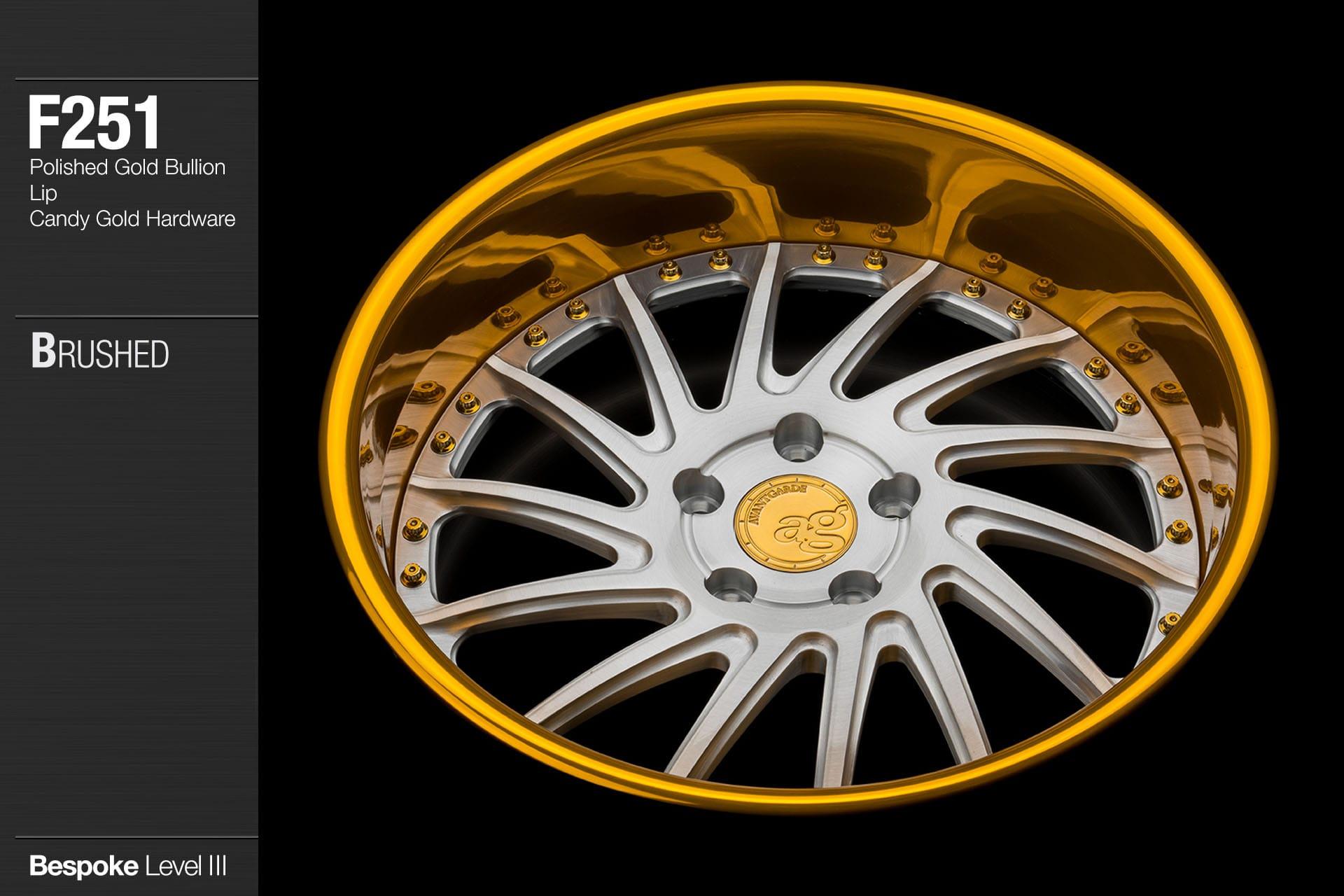 avant-garde-ag-wheels-f251-brushed-face-polished-gold-bullion-lip-candy-hardware-3-min
