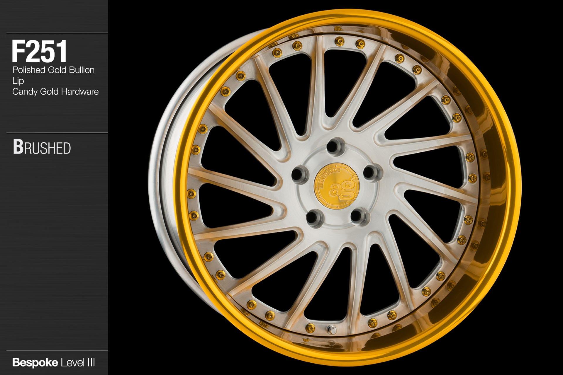 avant-garde-ag-wheels-f251-brushed-face-polished-gold-bullion-lip-candy-hardware-4-min