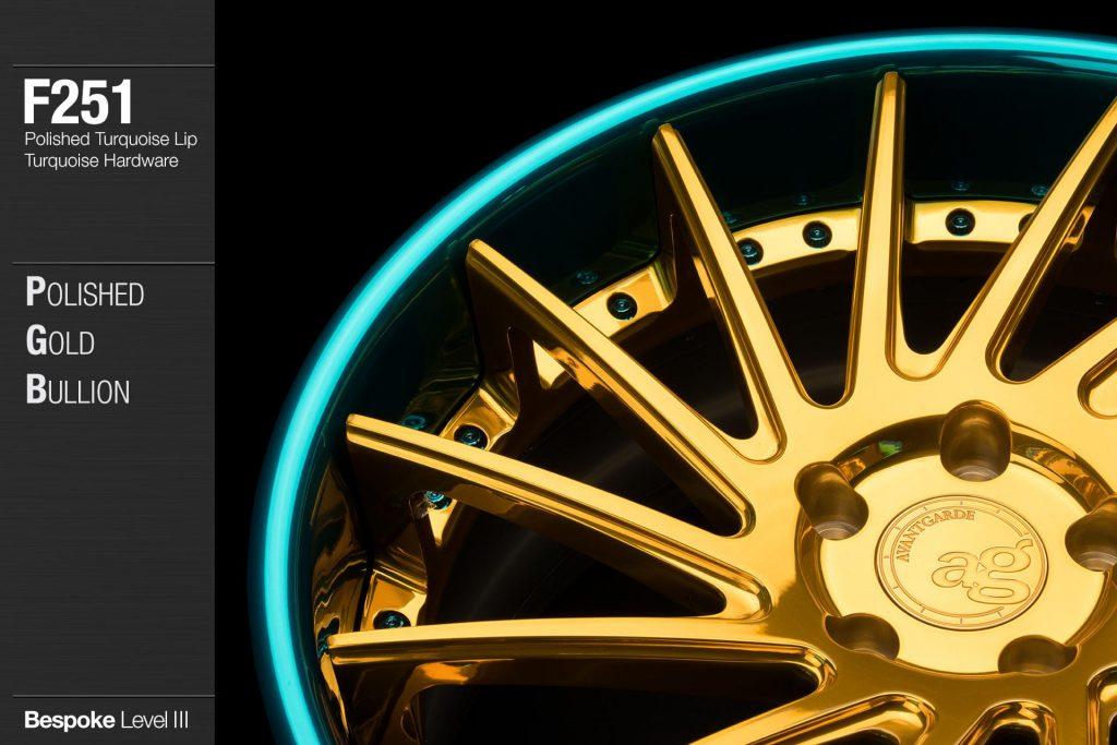 avant-garde-ag-wheels-f251-polished-gold-bullion-face-polished-turquoise-lip-hardware-2-min
