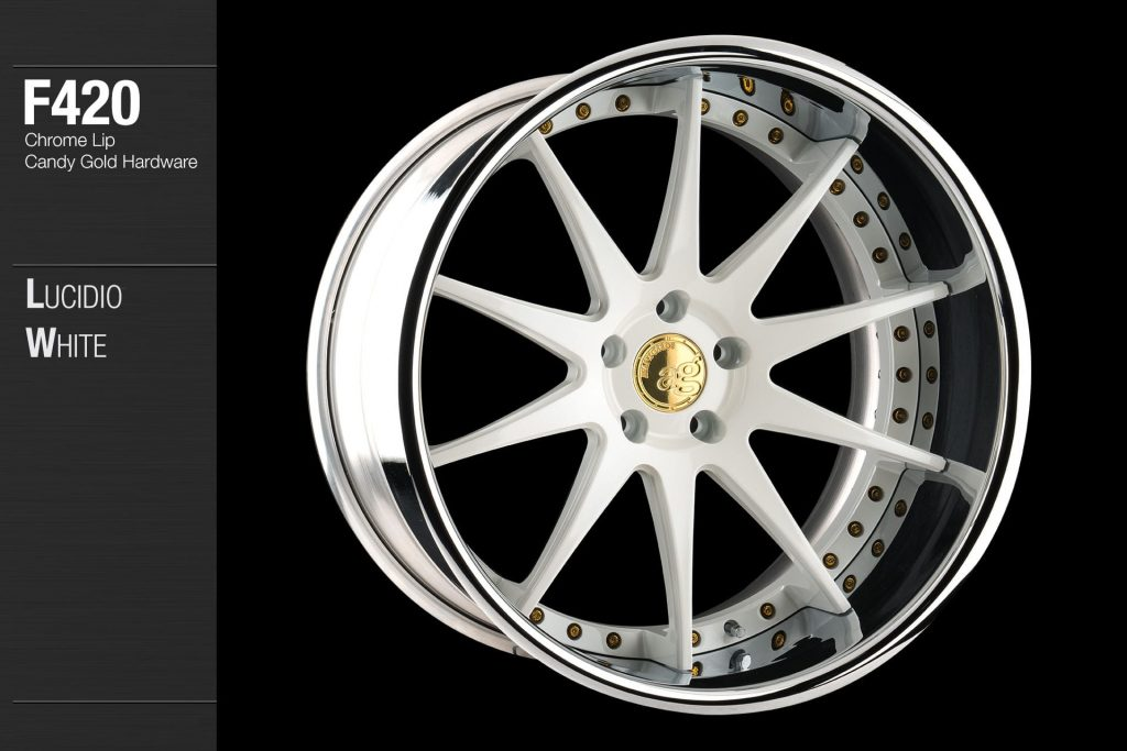 avant-garde-ag-wheels-f420-lucidio-white-face-chrome-lip-candy-gold-hardware-4-min
