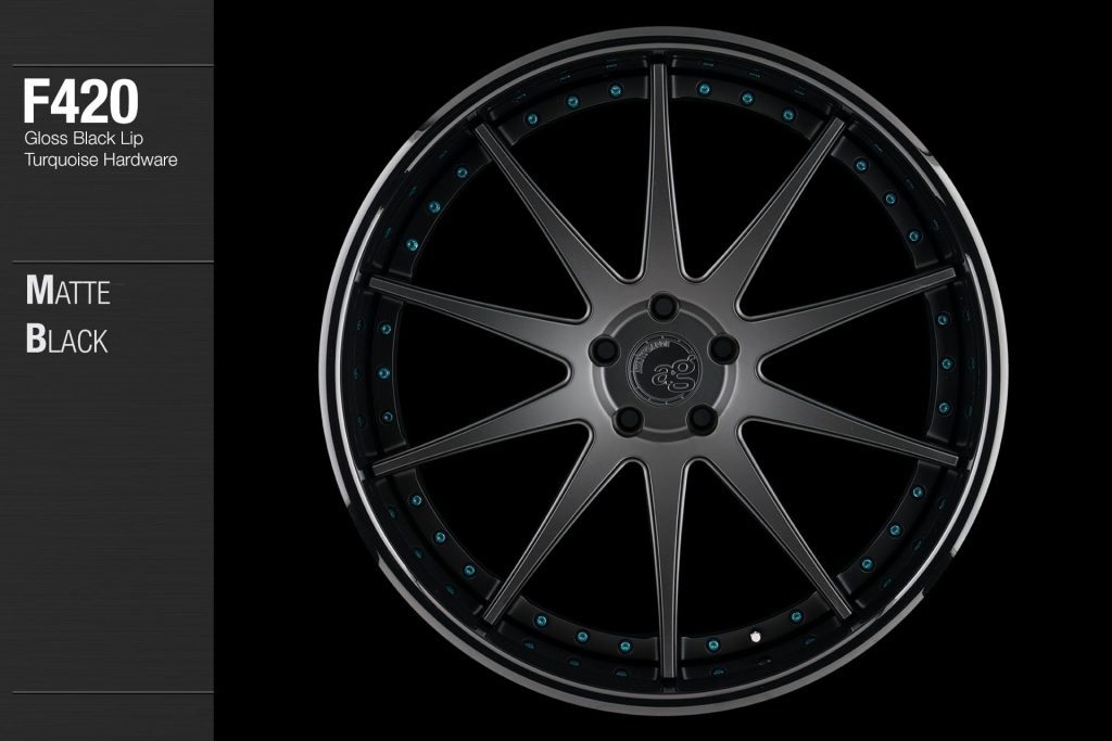 avant-garde-ag-wheels-f420-matte-black-face-gloss-black-lip-turquoise-hardware-1-min