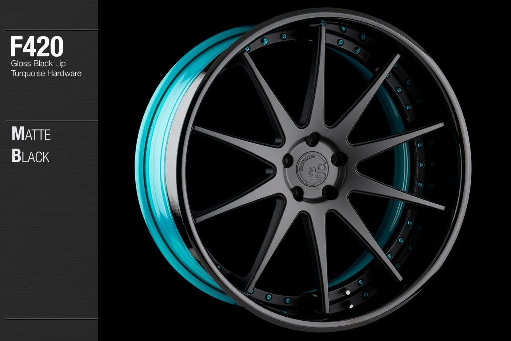 avant-garde-ag-wheels-f420-matte-black-face-gloss-black-lip-turquoise-hardware-4-min