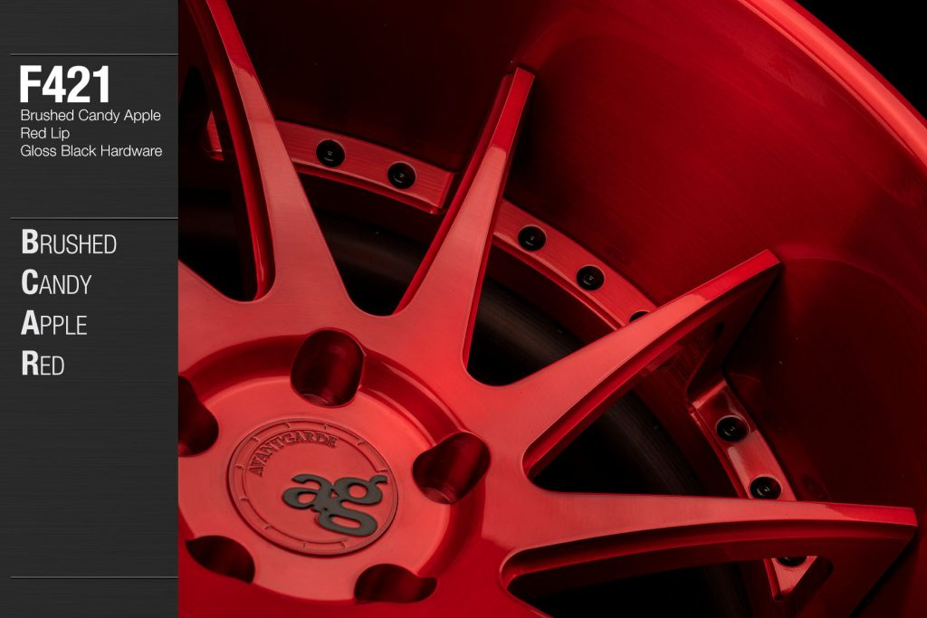 avant-garde-ag-wheels-f421-brushed-candy-apple-red-face-lip-gloss-black-hardware-2-min