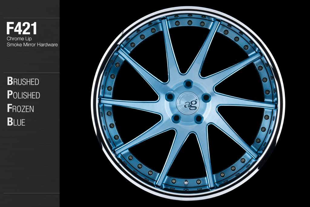 avant-garde-ag-wheels-f421-brushed-polished-frozen-blue-face-chrome-lip-smoke-mirror-hardware-1-min