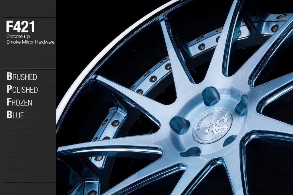 avant-garde-ag-wheels-f421-brushed-polished-frozen-blue-face-chrome-lip-smoke-mirror-hardware-2-min