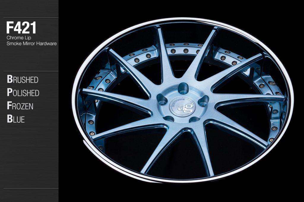 avant-garde-ag-wheels-f421-brushed-polished-frozen-blue-face-chrome-lip-smoke-mirror-hardware-3-min