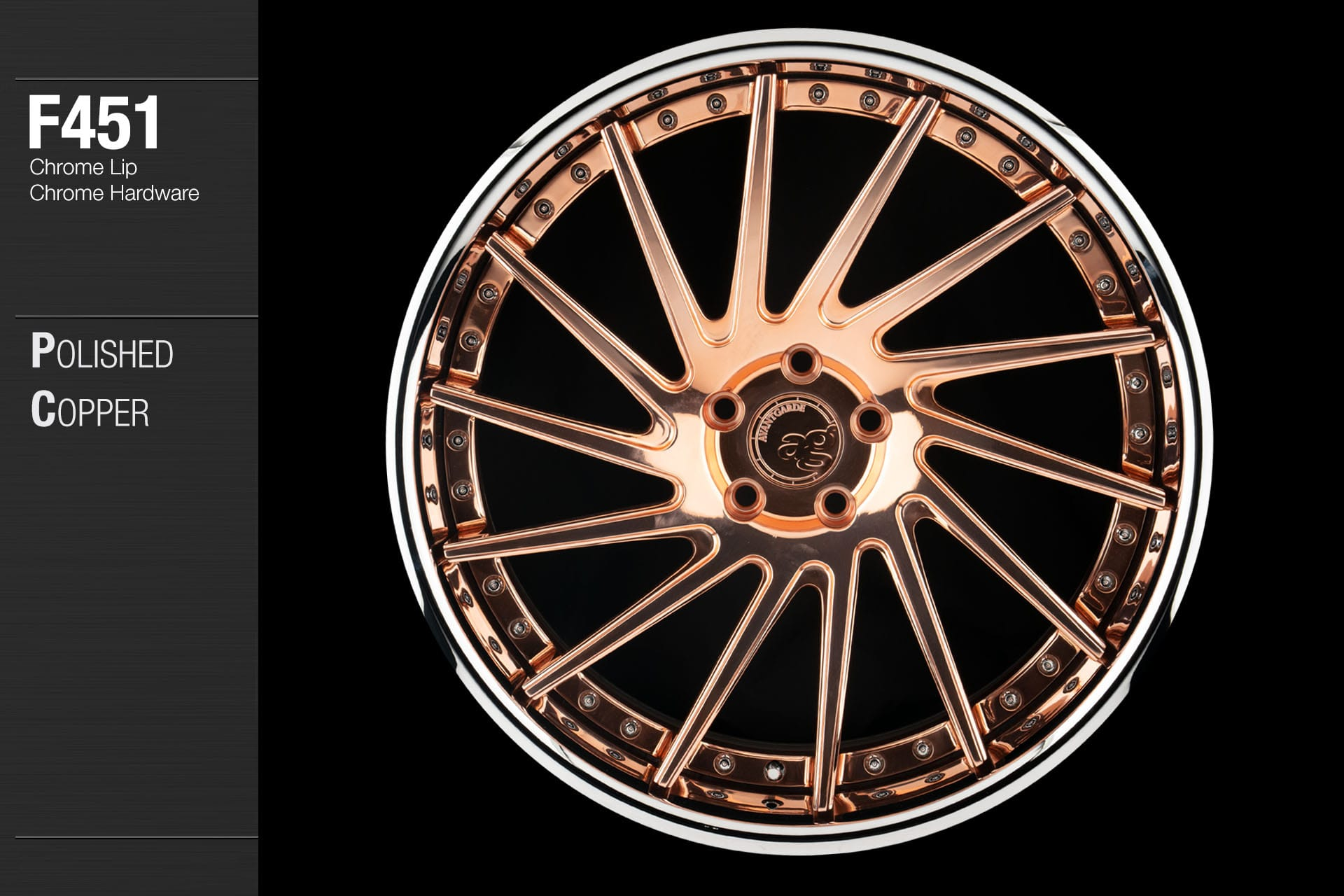 avant-garde-ag-wheels-f451-polished-copper-face-chrome-lip-hardware-1-min