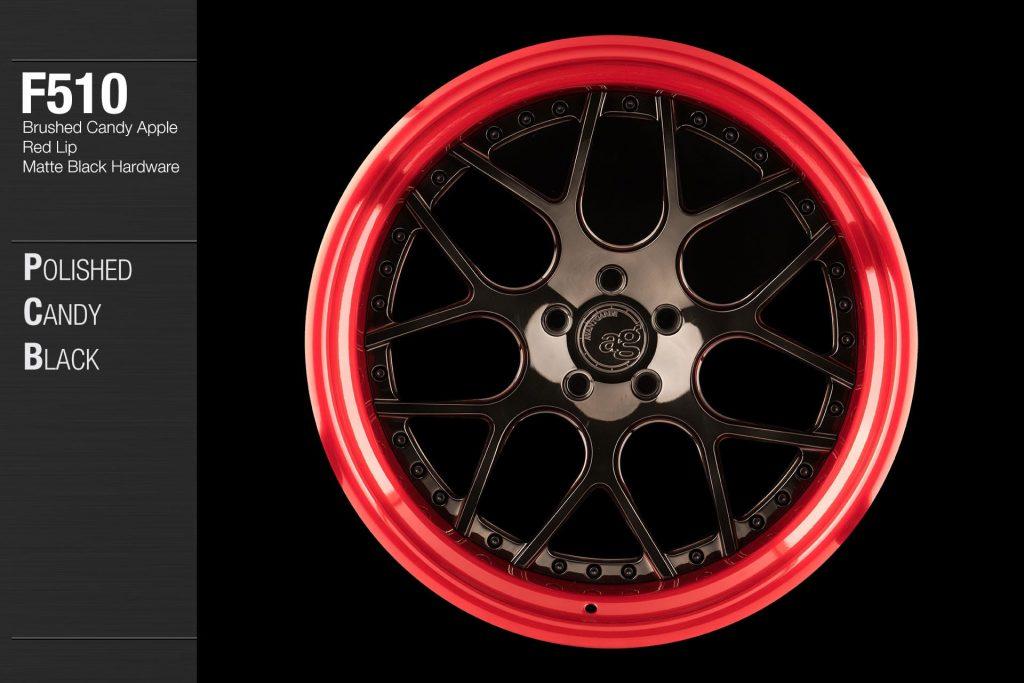 avant-garde-ag-wheels-f510-polished-candy-black-face-brushed-apple-red-lip-matte-hardware-1-min