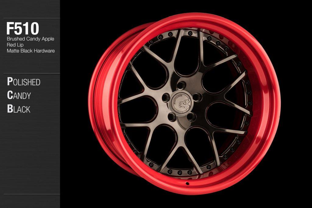 avant-garde-ag-wheels-f510-polished-candy-black-face-brushed-apple-red-lip-matte-hardware-4-min
