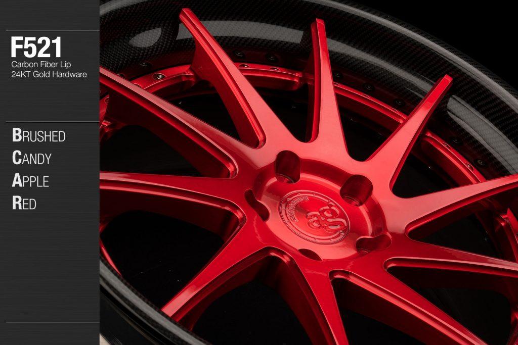 avant-garde-ag-wheels-f521-brushed-candy-apple-red-face-carbon-fiber-lip-24kt-gold-hardware-2-min