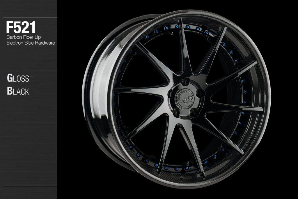 avant-garde-ag-wheels-f521-gloss-black-face-carbon-fiber-lip-electron-blue-hardware-4-min