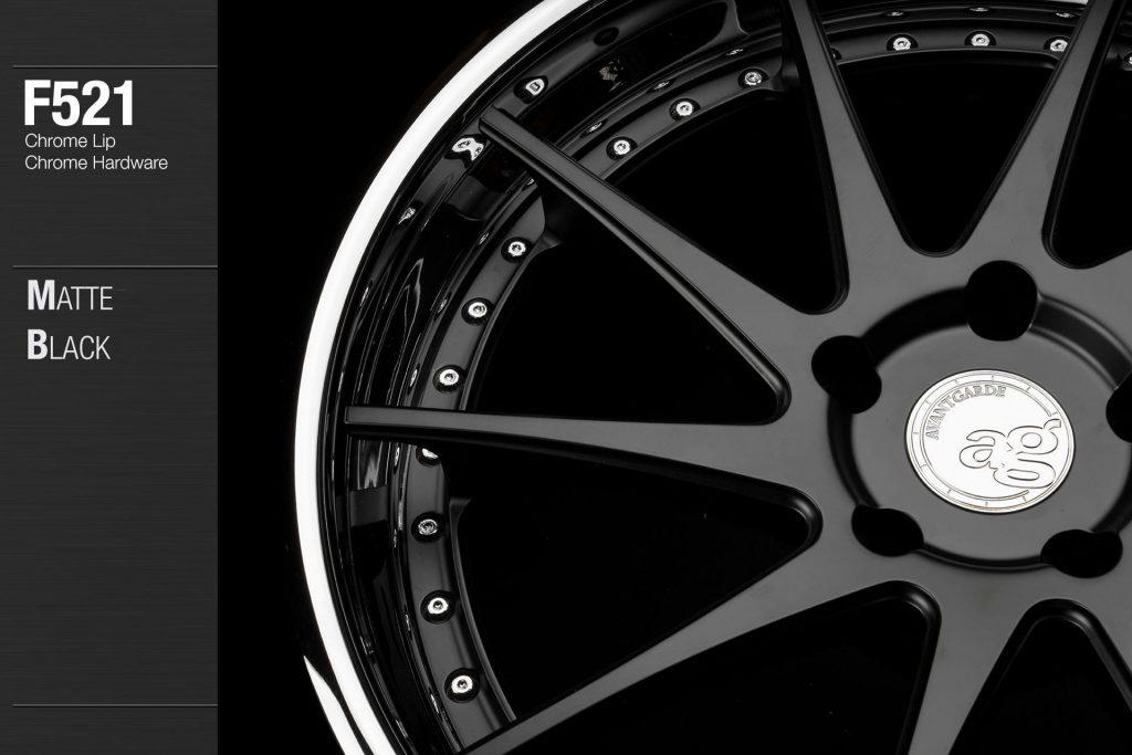 avant-garde-ag-wheels-f521-matte-black-face-chrome-lip-hardware-2-min