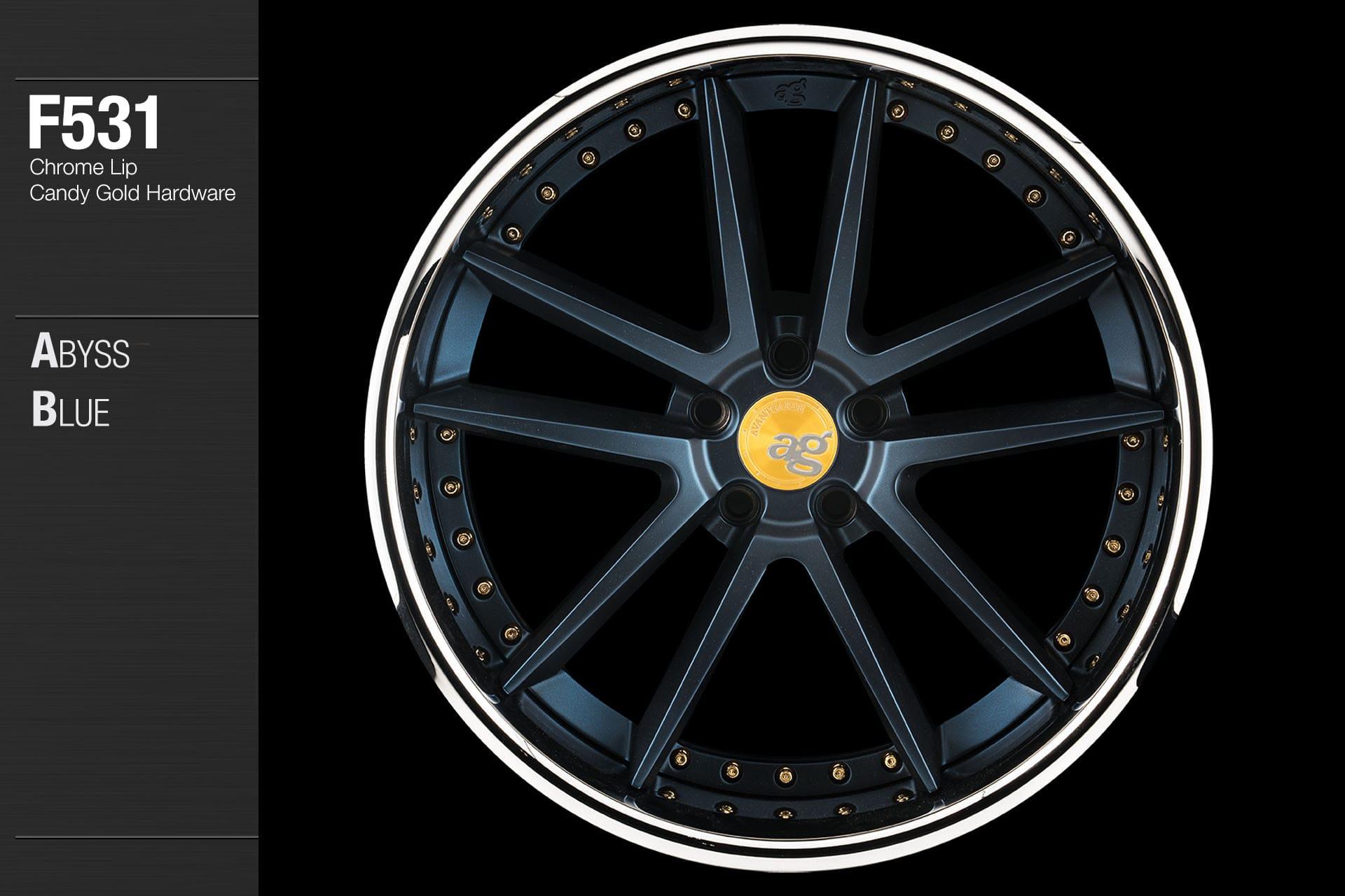 avant-garde-ag-wheels-f531-abyss-blue-face-chrome-lip-candy-gold-hardware-1-min