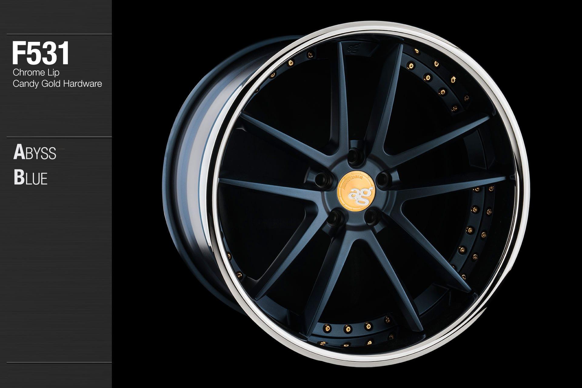 avant-garde-ag-wheels-f531-abyss-blue-face-chrome-lip-candy-gold-hardware-4-min