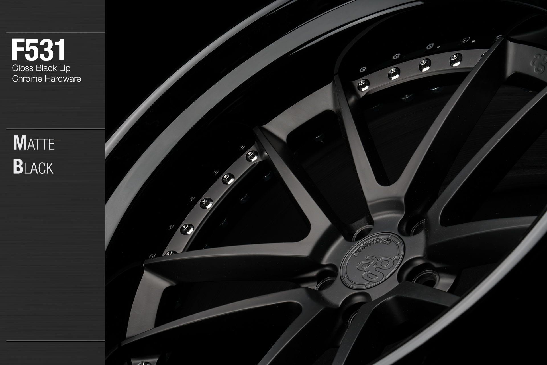 avant-garde-ag-wheels-f531-matte-black-face-gloss-lip-chrome-hardware-2-min