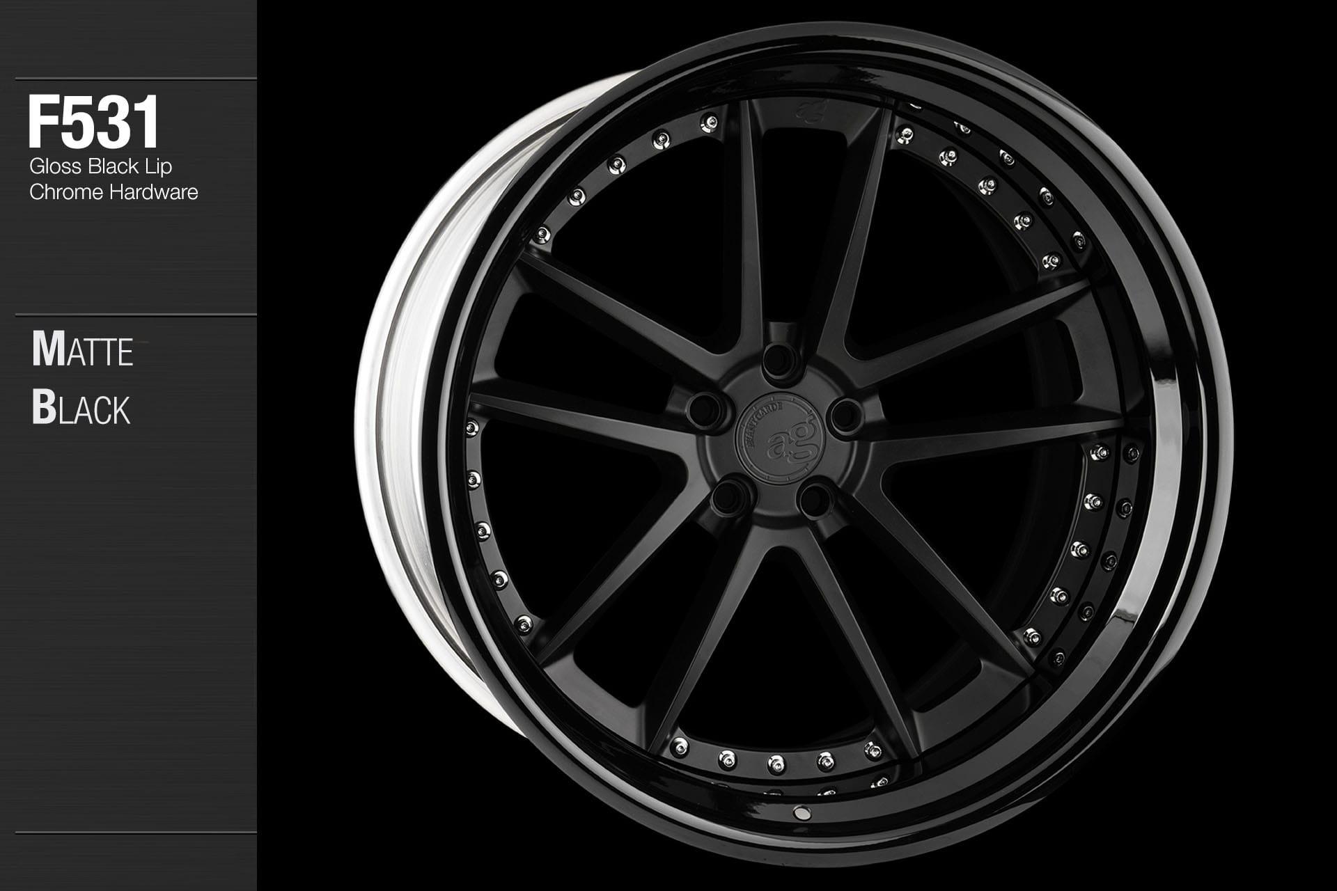 avant-garde-ag-wheels-f531-matte-black-face-gloss-lip-chrome-hardware-8-min