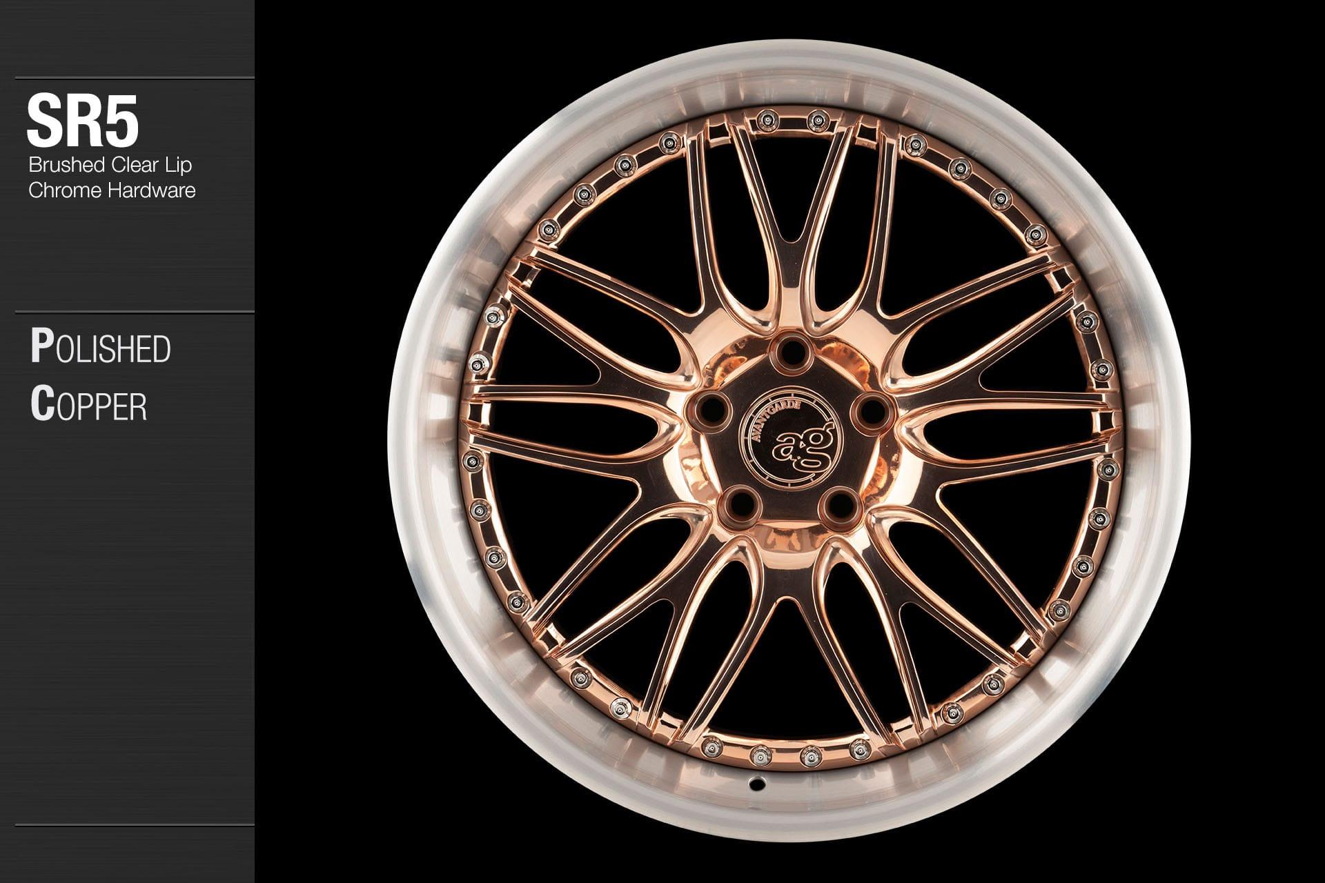avant-garde-ag-wheels-sr5-polished-copper-face-brushed-clear-lip-chrome-hardware-1