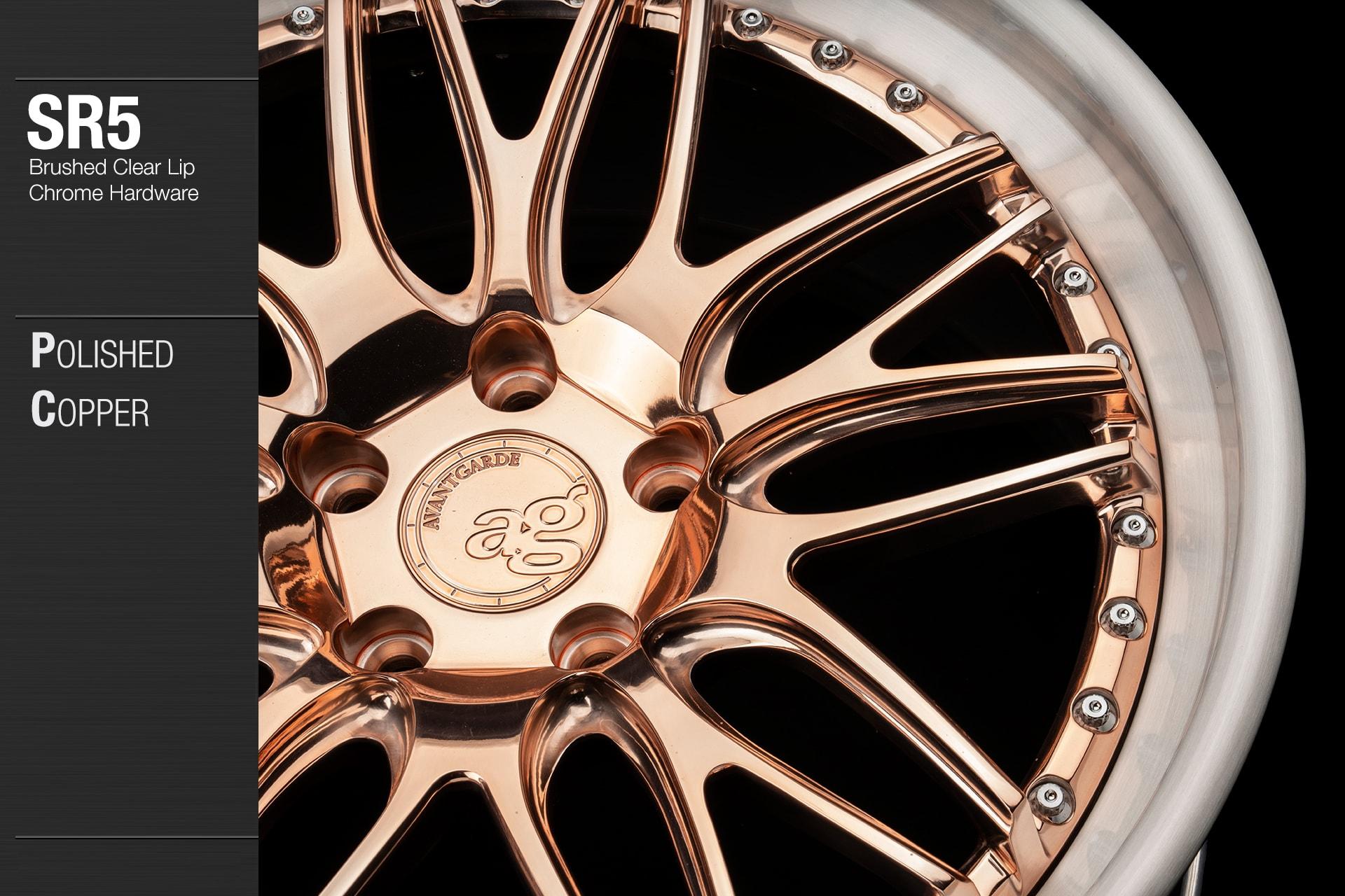 avant-garde-ag-wheels-sr5-polished-copper-face-brushed-clear-lip-chrome-hardware-2