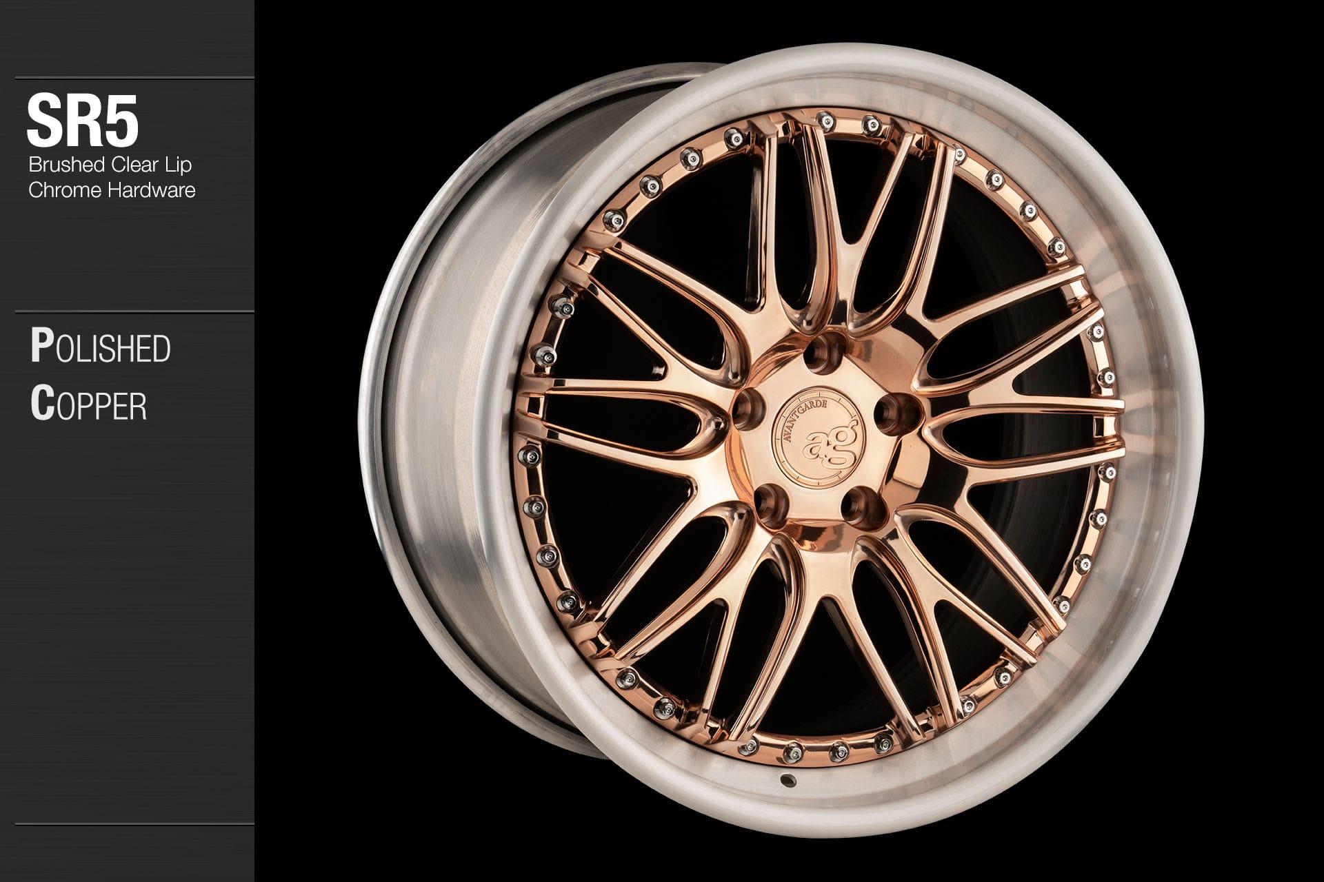 avant-garde-ag-wheels-sr5-polished-copper-face-brushed-clear-lip-chrome-hardware-4