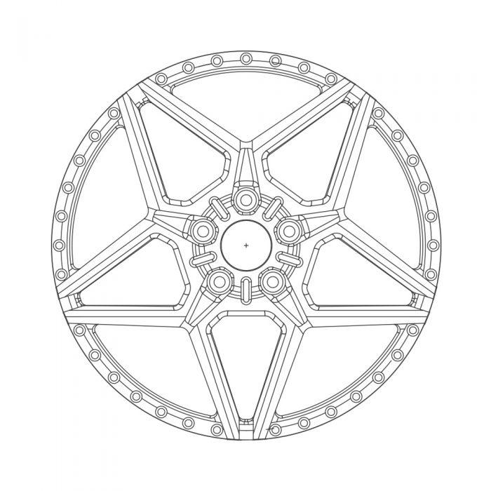avant garde wheels agwheels rims custom concave forged three piece five spoke satan star f139
