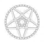 avant garde wheels agwheels rims custom concave forged three piece five spoke satan star f239